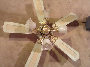 Vintage ceiling fan with lights