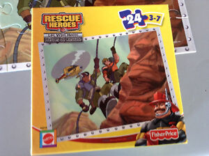 CASSE TÊTE FISHER PRICE RESCUE HEROES 24 MORCEAUX 3-7 ANS Gatineau Ottawa / Gatineau Area image 2