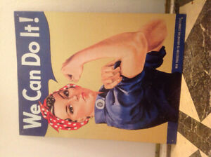 """We Can Do It"" Rosie the Riveter. Metal poster 12"" by 16"""
