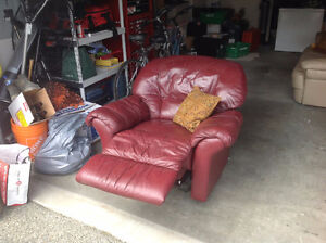 Leather Recliner (Red)