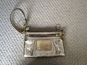Coach gold clutch bag