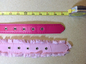 ** BRAND NEW ** 2 pink / fuchsia dog collars - size L - 29 inch Cambridge Kitchener Area image 4