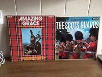 2 VINYL LP RECORDS, THE SCOTS GUARDS AND AMAZING GRACE