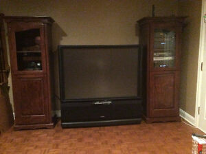 Matching media units - custom made rustic color