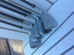 Titleist AP2 irons 6-Pw stiff graphite shafts