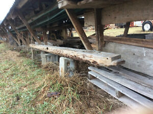 Old barn beam