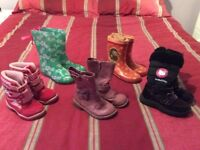 Bundle of Girl's Wellingtons/ Boots