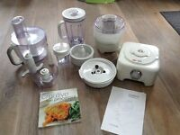 Kenwood Multipro food processor plus all attachments, instructions & recipe book