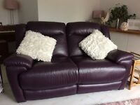 2 IDENTICAL LEATHER ELECTRIC RECLINER SOFAS