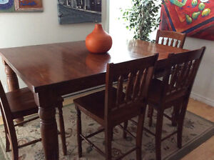 Bistro style dining table
