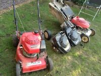 Lawnmower Honda engines