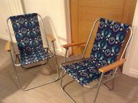 Retro 1970s deckchairs