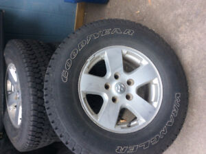 """17"""" Dodge Ram rims and tires"""