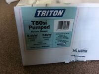 Triton T80si pumped electric shower, 8.5kw