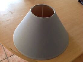 Light blue table lampshade.