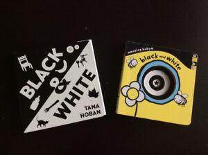 Baby Books - black and white x2