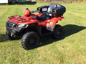 PRICE REDUCED!  2015 Suzuki KingQuad 500AXI ATV