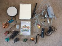 Wii Console with skylanders