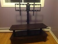 Television stand for flat screen television
