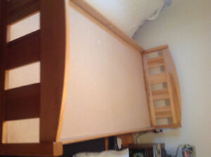 Single bed with headboard and footboard,