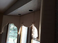Cornice Board Bay and Side Window Treatment