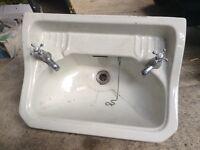 "Old ceramic ""Royal Venton"" bathroom sink / basin. 1959?? garden planter."