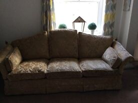 Large sofa and two armchairs