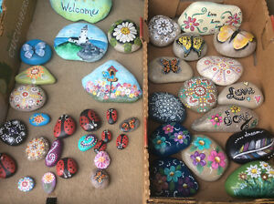 Painted rocks - hand painted and sealed
