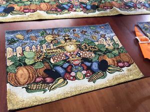 New Fall placemat sets, runners,napkins, matching napkin rings Edmonton Edmonton Area image 2