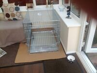 Two door dog cage