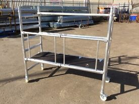 Lyte Industrial Folding Tower System LIFT Alloy Aluminium Scaffold 0.6m to 6.1m on castors