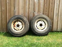 Lawn Tractor Tire and Wheels