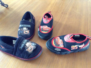 Disney Cars Swim Shoes & Slippers - both for $5 -Size 11