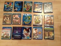 15 X Blue Ray Disc Job lot including Disney and Action Movies