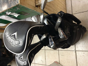 CALLAWAY GOLF SET WITH DRIVER & full set plus bag& TAYLORMADE SE