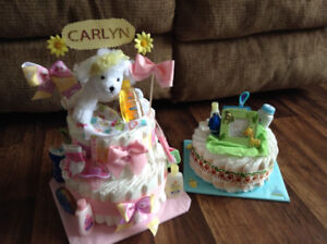 Diaper Cakes and Baby shower gift ideas