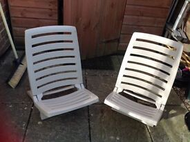 Low garden chairs folding ideal for travel
