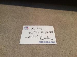 Toronto Blue Jays Autographs, lunch box giveaway, card set etc London Ontario image 2