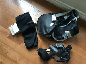 Donjoy Articulated Left Knee Brace with Bag & Brace Cover
