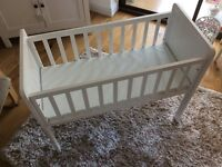 Mothercare Hyde Crib and Waterproof Mattress