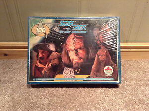 Vintage Star Trek Next Generation Worf puzzle -never opened -NEW