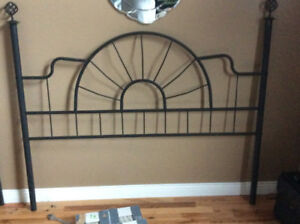 Black queen headboard, footboard,and bed frame