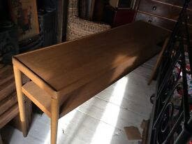 Errol solid teak console hall table