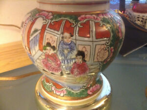 Antiques Chinese Famille Rose Porcelain Table Lamp