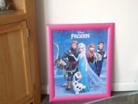 Frozen picture with hot pink frame