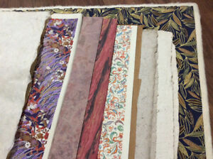 Large selection of decorative paper/marbelled/tissue/handmade