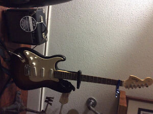 Left hand electric guitar with amp and case Cambridge Kitchener Area image 1