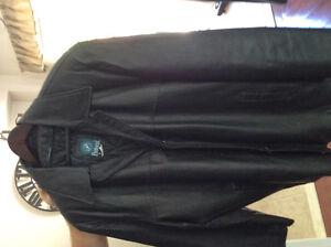 Black leather 3/4 coat