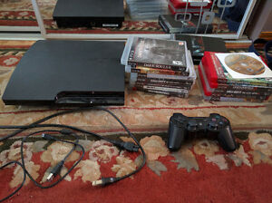 PS3, Controller WITH 15+ GAMES