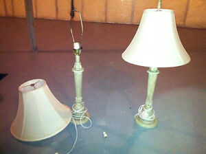 Traditional beige Arm Table Desk Lamp lighting set of 2